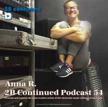 Anna R - 2B Continued Podcast 54 Cover Most creative Israeli djs